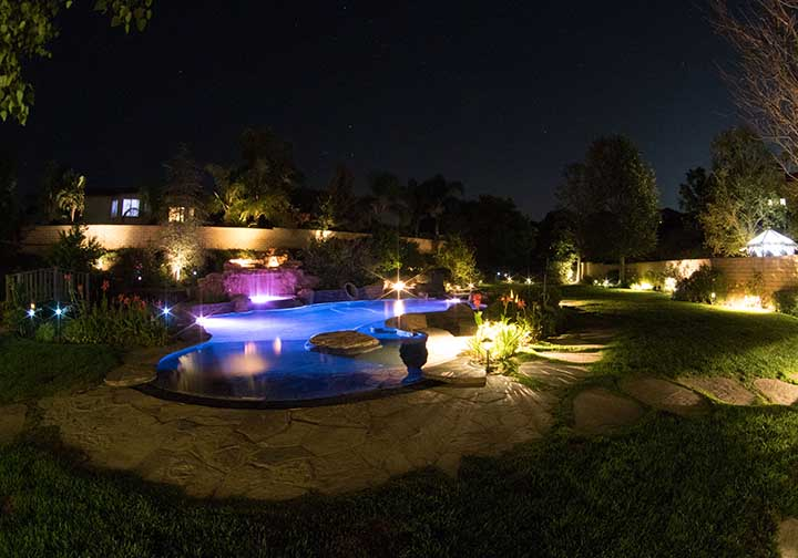 Light up your home landscape.